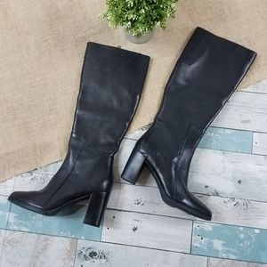 Clarks Black Leather Kadri Ariana Heeled Boots